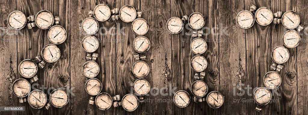 2017 new year background, 2017 sign by tools stock photo