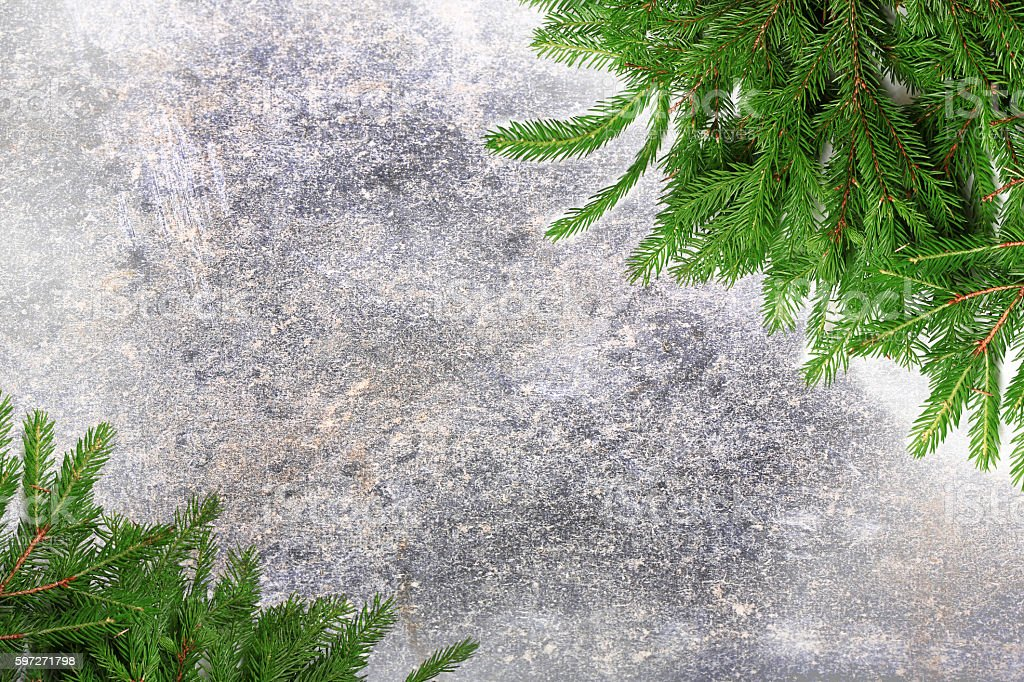 New Year background Christmas tree abstract gray background natural stone royalty-free stock photo