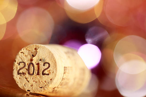 new year background cork from wine background selective focus 2012 stock pictures, royalty-free photos & images