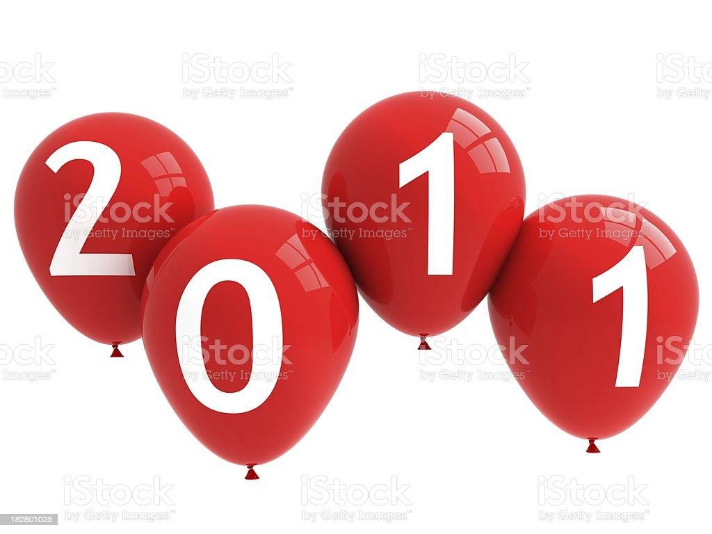 New Year Balloons royalty-free stock photo