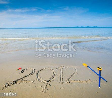 1004788900 istock photo New Year Beach - 2012 133833440