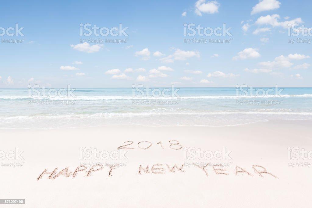 new year beach stock photo