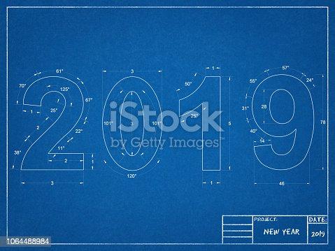 istock 2019 New year Blueprint 1064488984
