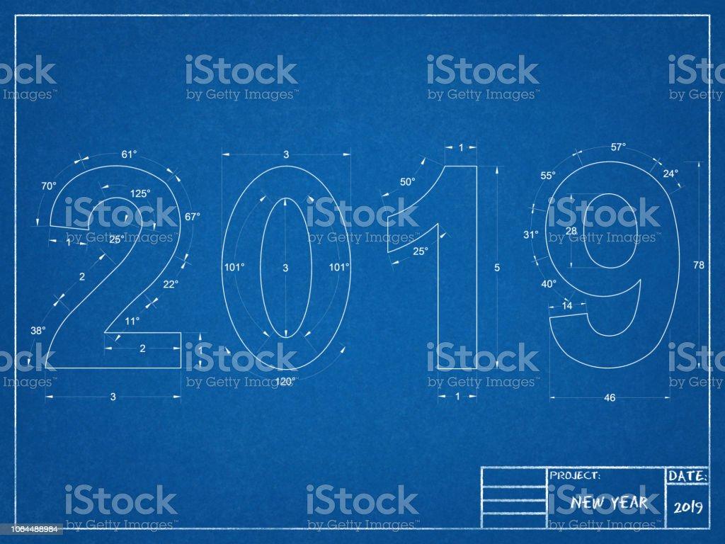 2019 Neujahr Blueprint – Foto