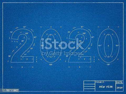 istock 2020 New year Blueprint 1178711902