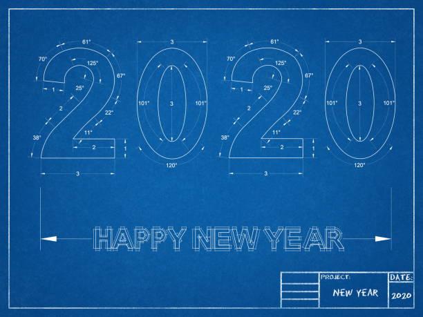2020 neujahr Blueprint – Foto