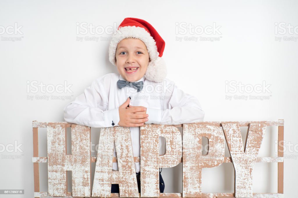 New year boy stock photo