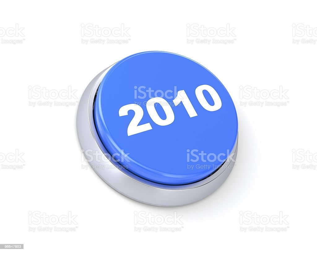 New year button royalty-free stock photo