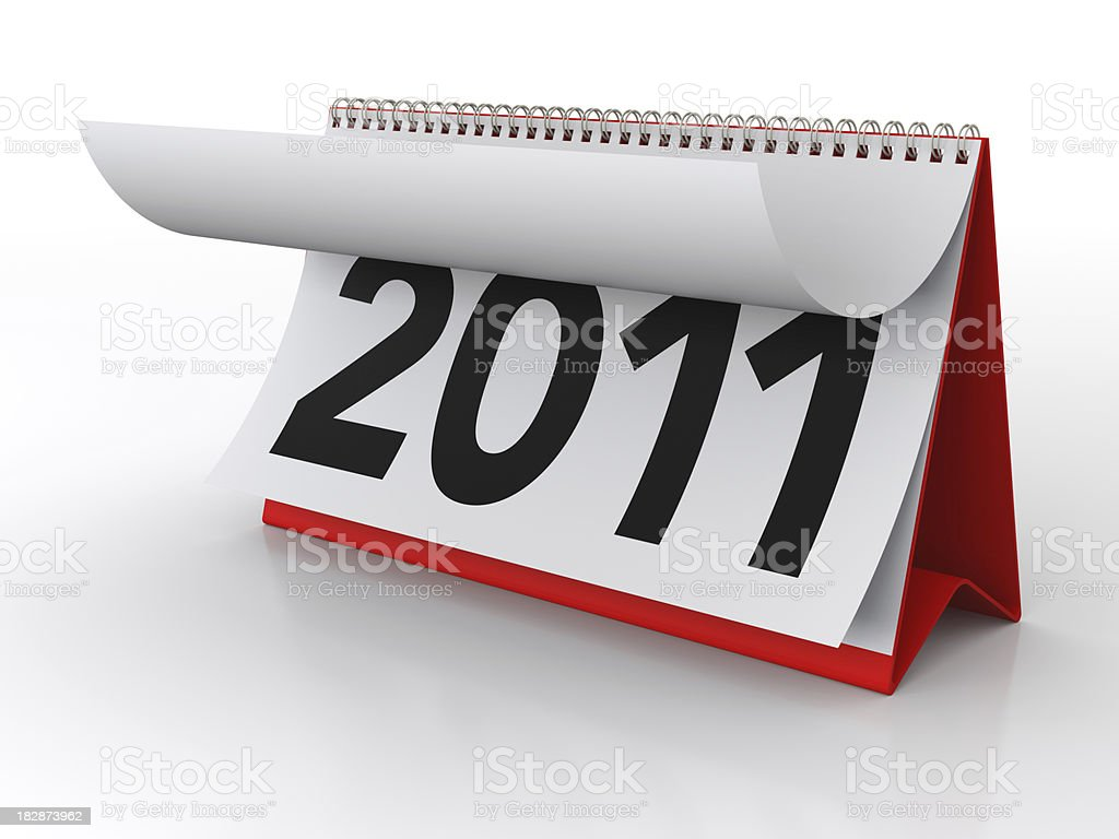 New Year Calendar 2011 stock photo