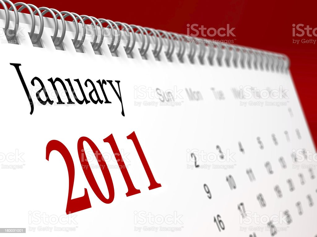 New year calendar 2011 royalty-free stock photo