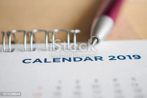 1027407218 istock photo New year calendar page 2019 1014238544