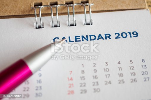 1027407218 istock photo New year calendar page 2019 1014238552