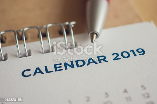 1027407218 istock photo New year calendar page 2019 1015320156