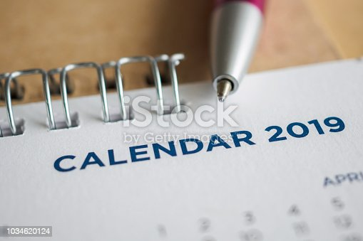 1027407218 istock photo New year calendar page 2019 1034620124