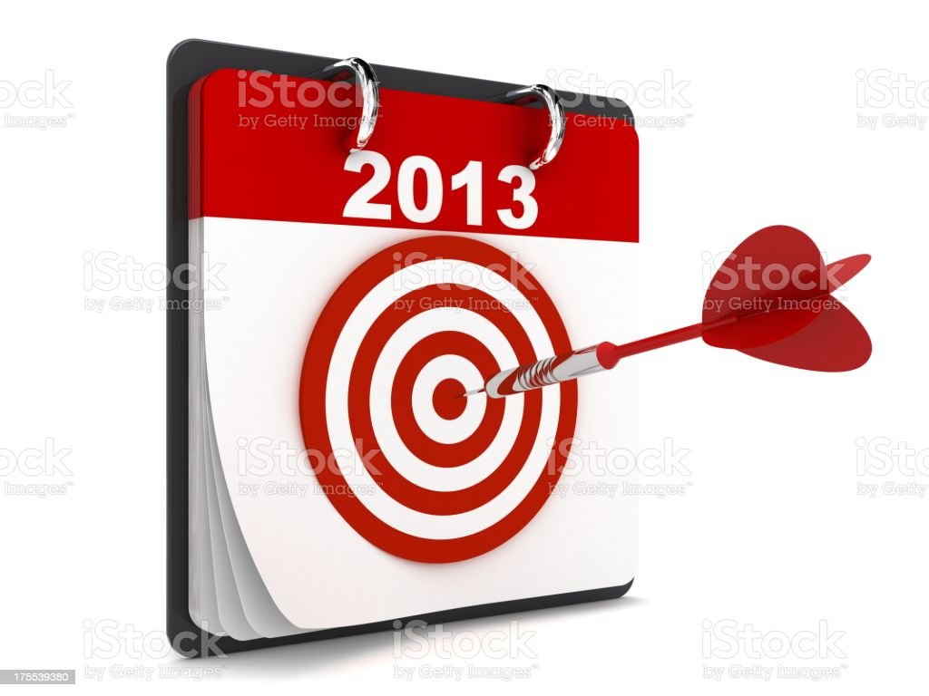 New Year Calendar royalty-free stock photo