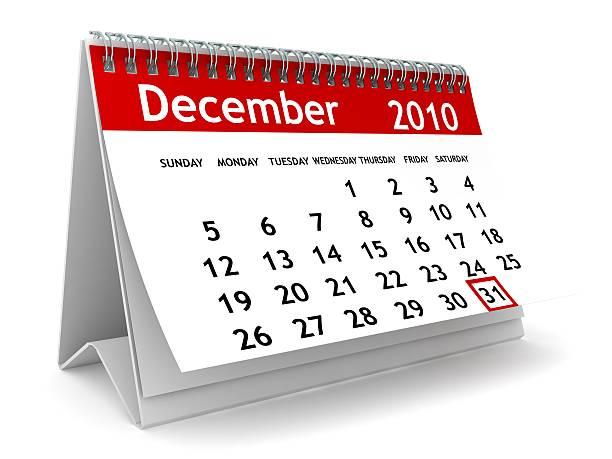 anno nuovo calendario - 2010 foto e immagini stock