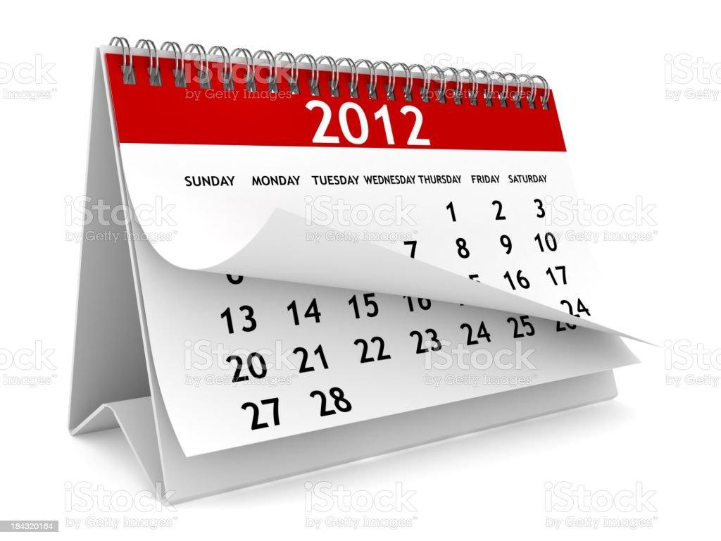 Neue Jahr Kalender - Lizenzfrei 2011 Stock-Foto