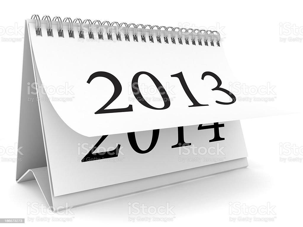 New Year Calendar royalty-free stock photo