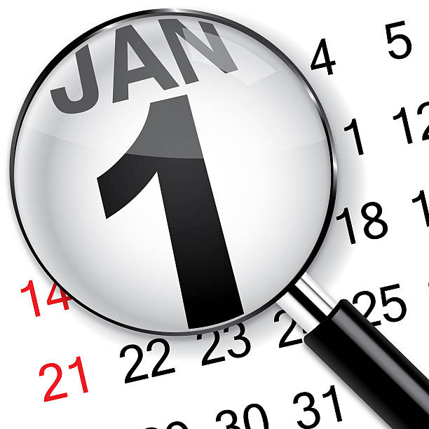 new year calendar - new years day stock pictures, royalty-free photos & images