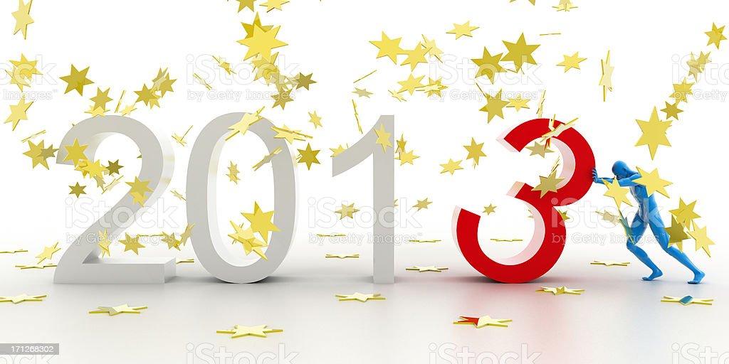 New Year Celebration 2013 royalty-free stock photo