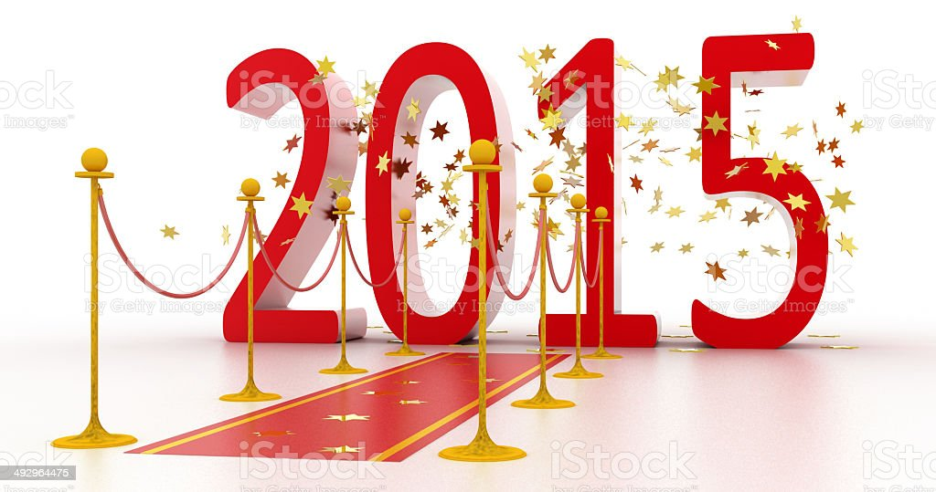New Year Celebration 2015 royalty-free stock photo