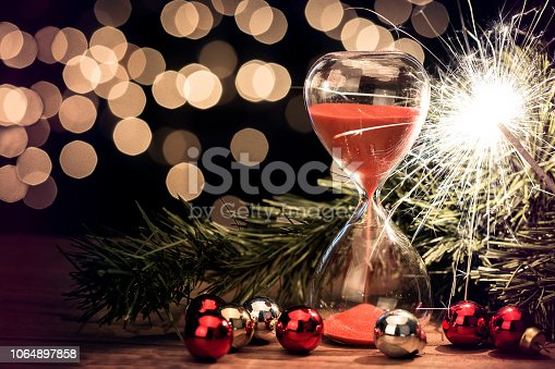 istock New Year Celebration, countdown with sandglass 1064897858