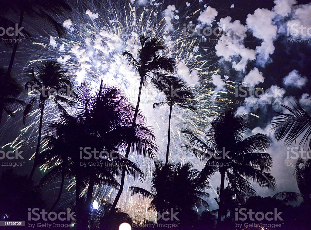 New Year Celebration on Miami Beach, FL, USA stock photo