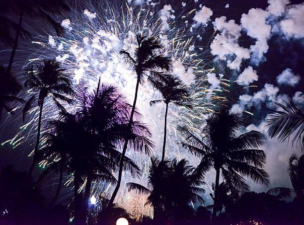 Neujahrsfeier auf Miami Beach, Florida,, USA – Foto