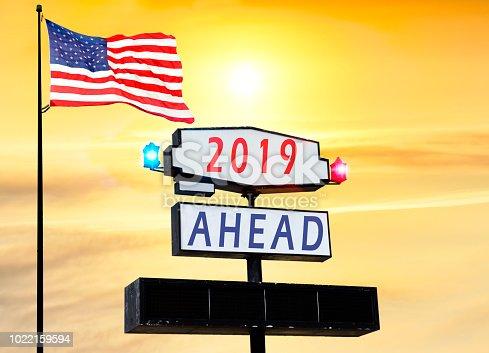 istock 2019 New Year celebration on Road billboard 1022159594