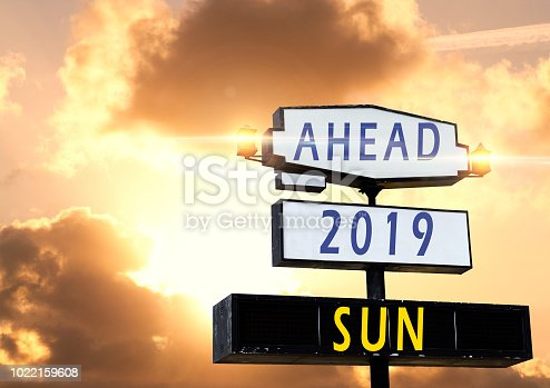 istock 2019 New Year celebration on Road billboard 1022159608