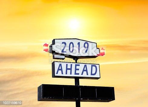 istock 2019 New Year celebration on Road billboard 1022159610