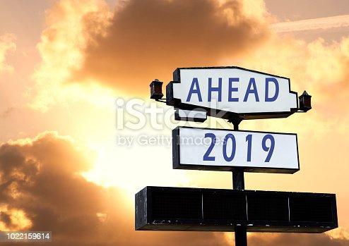 istock 2019 New Year celebration on Road billboard 1022159614