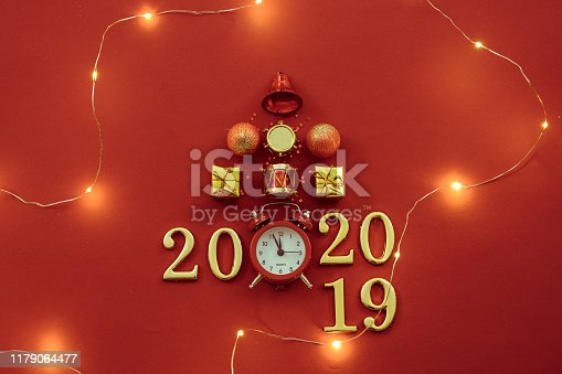 istock new year celebration time christmas ornament clock 1179064477