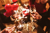 istock new year celebration with champagne 1184566493