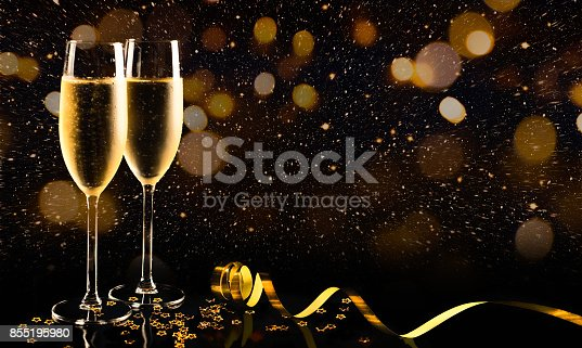 istock New year celebration with champagne 855195980