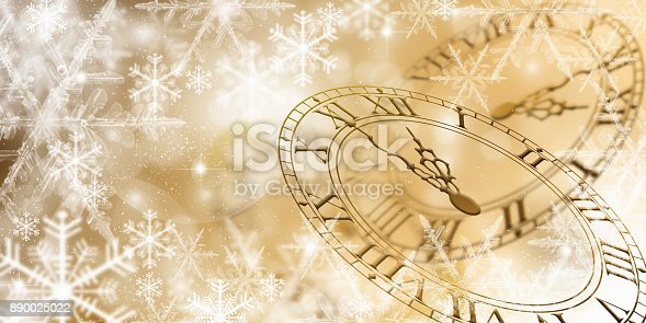 istock New Year Celebration With Dial Clock 890025022