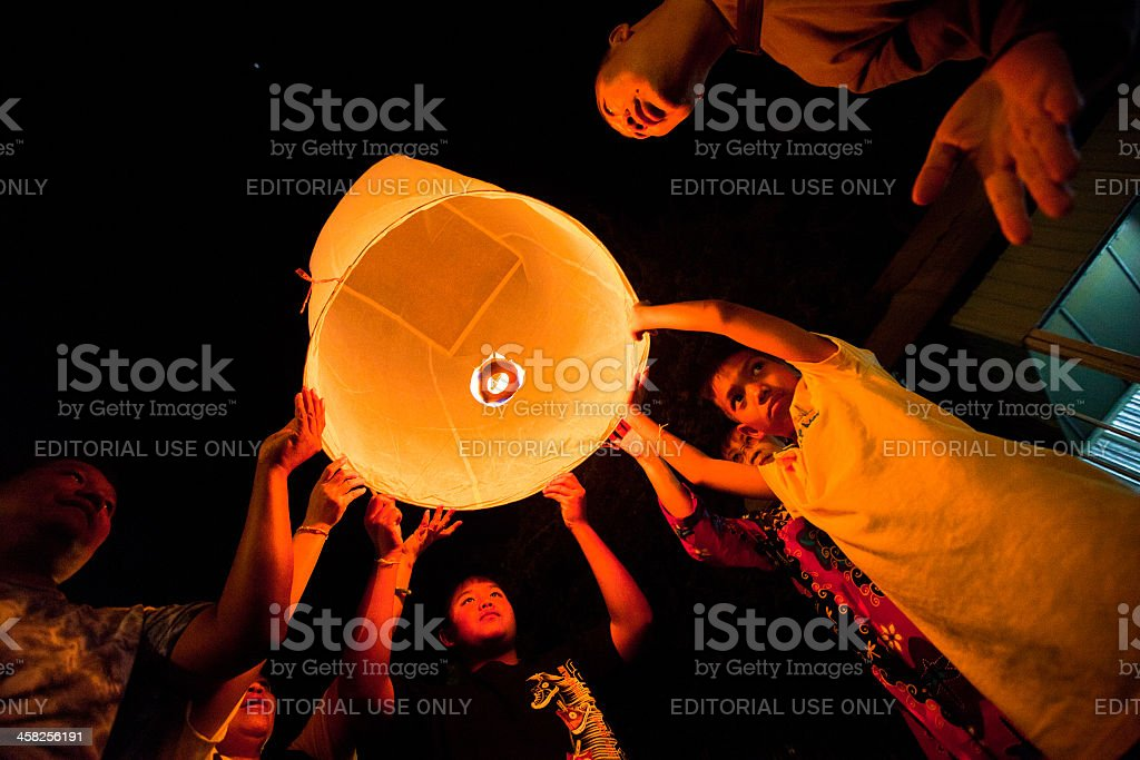 New Year celebrations in Chiangmai, northern Thailand royalty-free stock photo