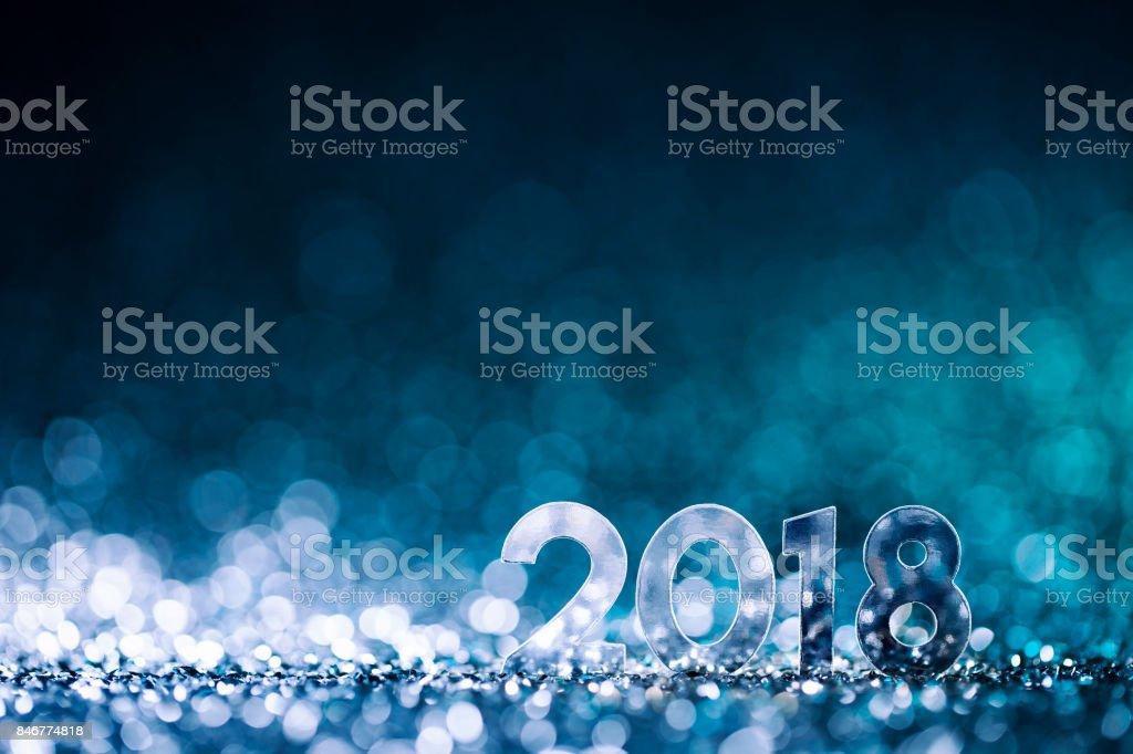 Décoration de Noël Nouvel an 2018 - célébration fête bleu - Photo