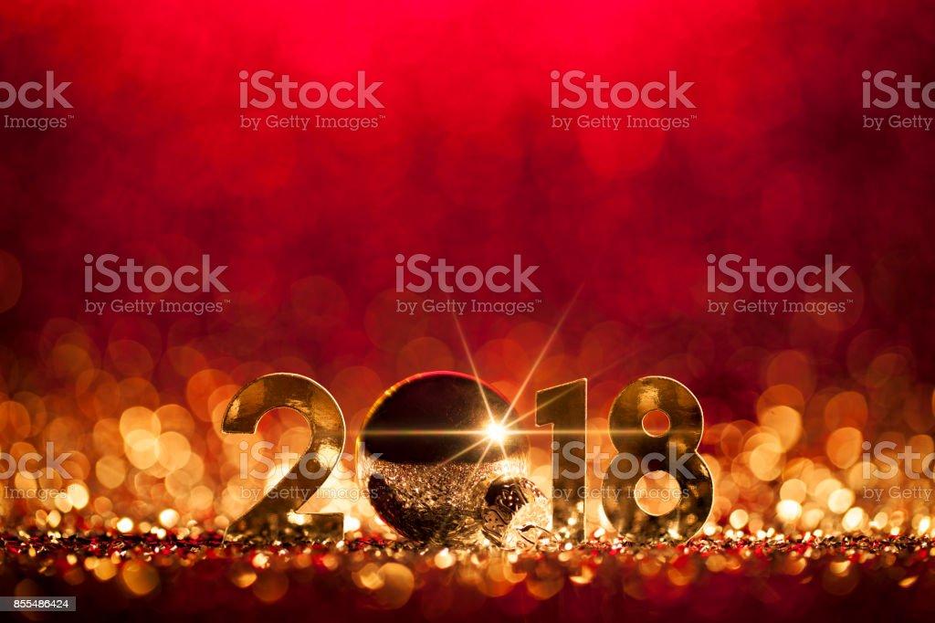 Décoration de Noël Nouvel an 2018 - célébration fête rouge or - Photo