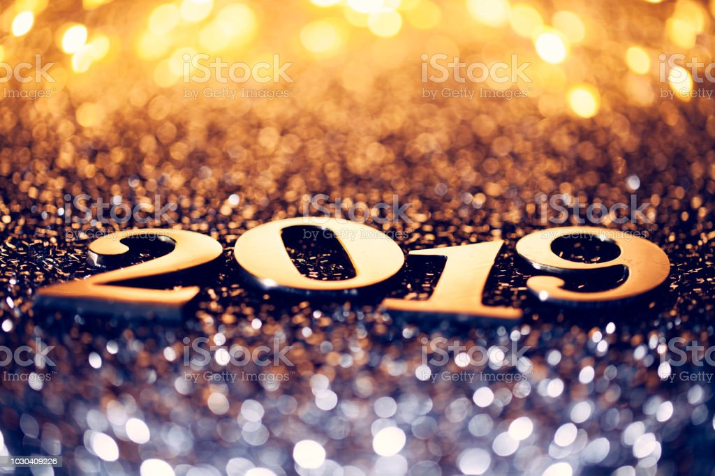 Décoration de Noël Nouvel an 2019 - célébration fête bleu or - Photo