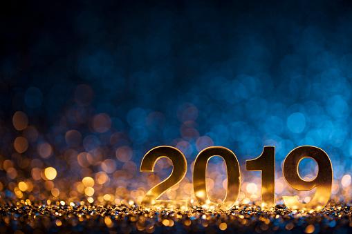 正月クリスマス装飾 2019 ゴールド ブルー パーティーお祝い - 2019年のストックフォトや画像を多数ご用意