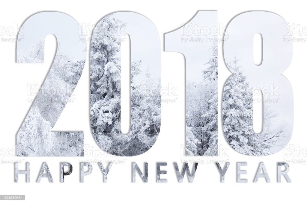 New year. Christmas. Snowflakes. New Year's cards. stock photo