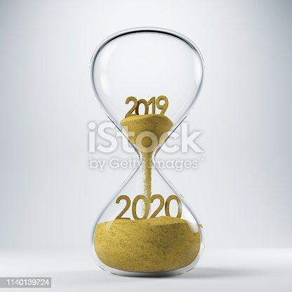 New year concept with 2019 and 2020