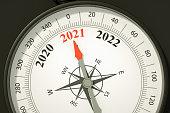 istock 2021 New Year Compass 1249996719
