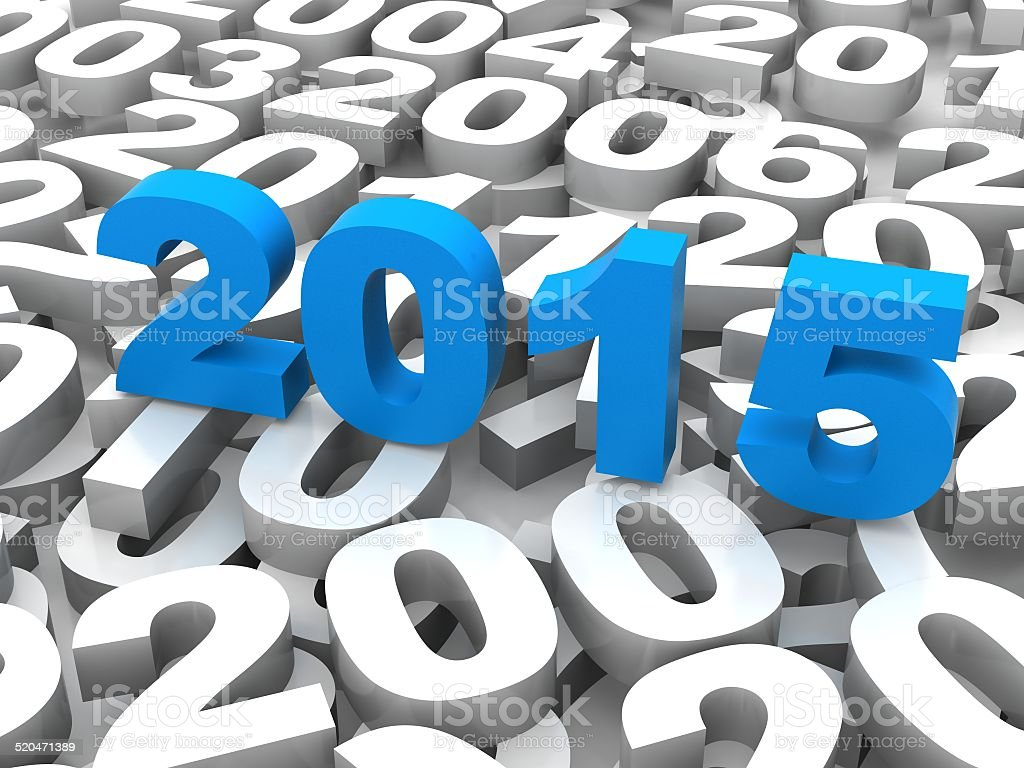 3D New Year concept stock photo