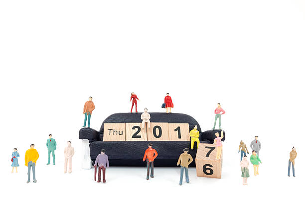 new year concept - figurine stock photos and pictures