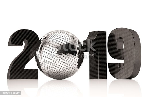 istock New Year Concept with 2019 Disco Ball 1058960642