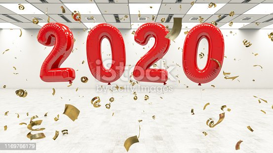 istock New Year Concept with 2020 Balloons and Confetti 1169766179