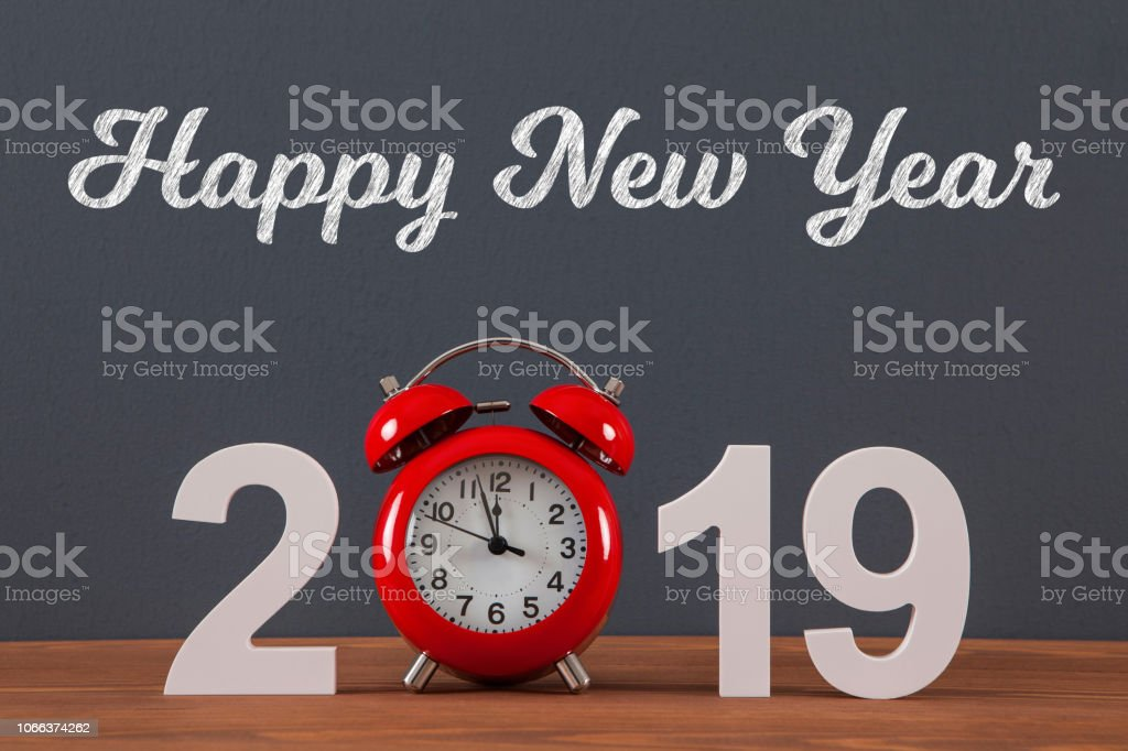 New year concepts 2019 countdown clock