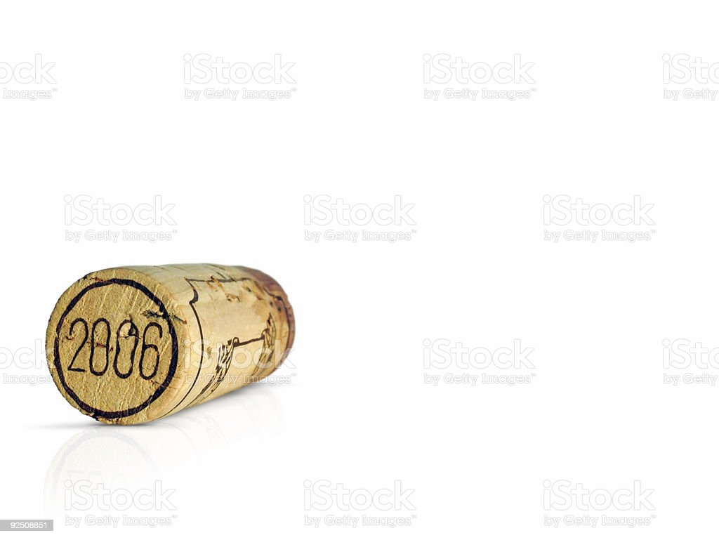 New Year Cork royalty-free stock photo